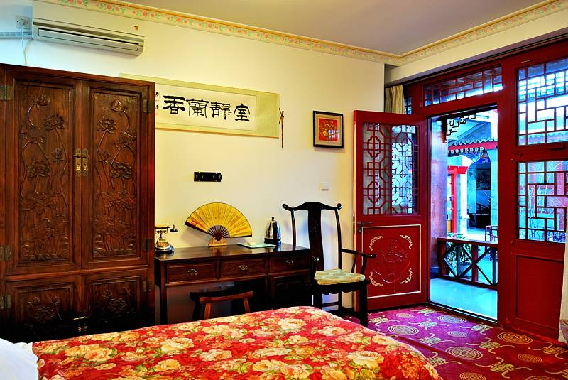 Beijing Templeside Deluxe Hutong House Hotel Courtyard